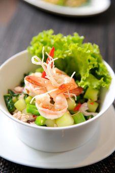 Free Thai Fusion Food, Seafood Salad Royalty Free Stock Image - 20829666