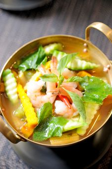Free A Bowl Of Seafood Curry Stock Images - 20829904
