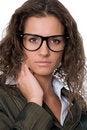 Free Beautiful Woman Wearing Glasses Royalty Free Stock Photography - 20837687