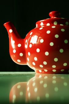 Free Detail Of Red And White Dots Teapot Stock Photo - 20830430