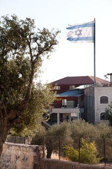Free Ragged Israeli Flag Stock Photography - 20830622