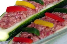 Free Two Zucchini And Meat Stuffing Stock Image - 20831071