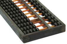 Antique Chinese Abacus Stock Image