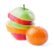 Mixed Fruit With Mandarin Stock Image