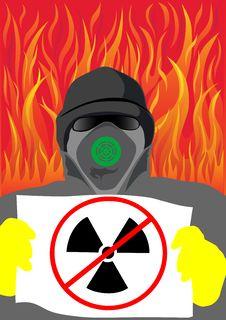 Danger Radiation Sing Stock Photos