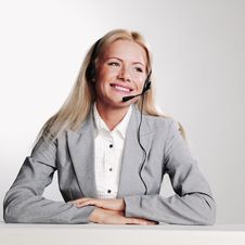 Free Business Woman In A Headset Stock Photo - 20833060
