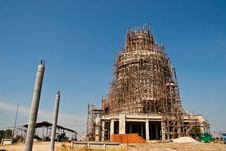 Big Buddha Statue Under Construction Stock Image
