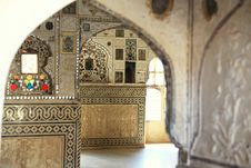 Free Inside Amber Fort In Jaipur Stock Photography - 20834002