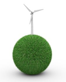 Free Wind Turbine Royalty Free Stock Image - 20834176