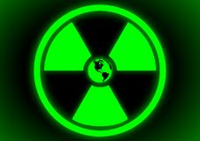 Free Radioactive Symbol With Earth Stock Image - 20834201