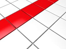 Free 3d Red White Cube Background Royalty Free Stock Images - 20835309