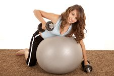 Free Weights With Ball Royalty Free Stock Photography - 20835337