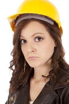Free Woman Construction Hat Sad Royalty Free Stock Photo - 20835785