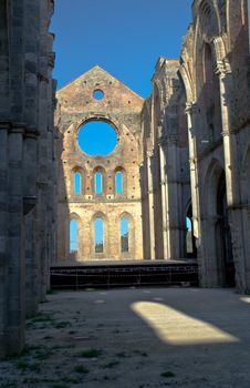 Abbey Of San Galgano, Tuscany Stock Photos