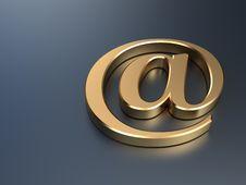 Free Golden E-mail Symbol Stock Photos - 20836333