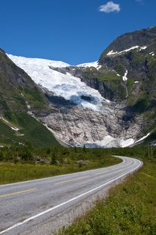 Norwegian Glacier Stock Image