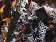 Burning Firewood Royalty Free Stock Photography