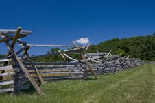 Free Split Rail Fence Near Forest Stock Images - 20837584