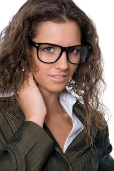 Free Beautiful Woman Wearing Glasses Royalty Free Stock Images - 20837689
