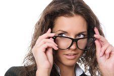 Free Beautiful Woman Wearing Glasses Stock Photo - 20837690