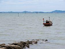 Fishing Boat On The Sea Stock Photos
