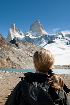 Free Contemplating Fitz Roy Royalty Free Stock Image - 20838186