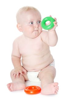 Free The Little Baby Plays Toys Stock Image - 20838571