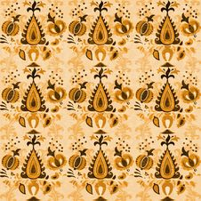 Asian Decorative Floral Seamless Pattern Royalty Free Stock Image