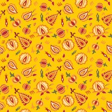 Free Deep Yellow Floral Pattern Royalty Free Stock Image - 20838876