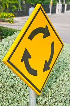 Free Roundabout Road Sign Stock Photo - 20839230