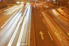 Free Light Trails On Road Shanghai Royalty Free Stock Photo - 20839375