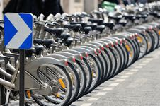 Free Bicycles On Parking Stock Photo - 20839660