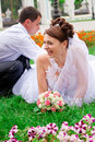 Free Happy Bride And Groom Having Fun Royalty Free Stock Photos - 20843778
