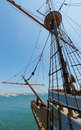 Free View Of Mast And Rigging On The Tall Sail Ship. Royalty Free Stock Photos - 20844828