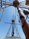 Free View Of Mast And Rigging On The Tall Sail Ship. Royalty Free Stock Images - 20844989