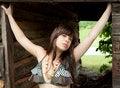 Free Sexy Young Woman In Bikini Top Outside Royalty Free Stock Image - 20848716