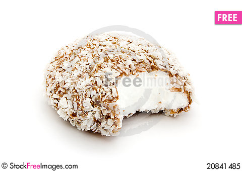 Free Chocolate And Coconut Covered Marshmallow Royalty Free Stock Photo - 20841485