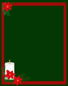 Free Burning Christmas Candle Stock Images - 20840044