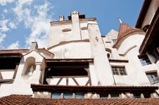 Tall Towers At Bran Castle In Romania Stock Image