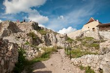 Ruins At The Medieval Fortress In Romania Royalty Free Stock Image