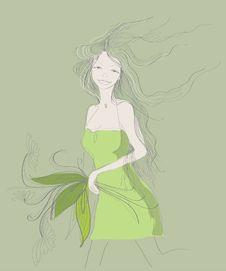 Free Beautiful Spring Girl Stock Photo - 20840450