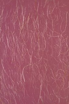 Free Japanese Red Paper With Gold Thread. Royalty Free Stock Image - 20840556