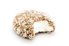 Chocolate And Coconut Covered Marshmallow Royalty Free Stock Photo