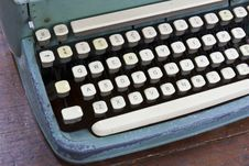 Old Type Device Keyboard Royalty Free Stock Photos