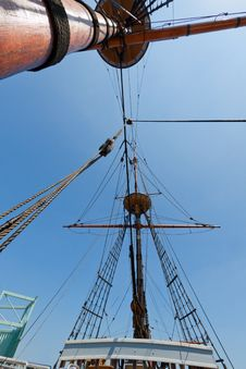 Free View Of Mast And Rigging On The Tall Sail Ship. Royalty Free Stock Photo - 20844895