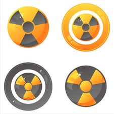 Free Glossy Nuclear Signs Royalty Free Stock Photo - 20845135