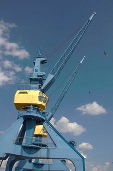 Dock Crane Stock Photography