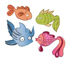 Free Little Emotional Fish Stock Image - 20845501