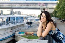 Free Girl Walking On Embankment Stock Image - 20845821