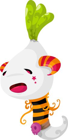 Free Ghost Radish Vector Stock Image - 20845861